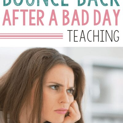 How to Bounce Back After a Bad Day