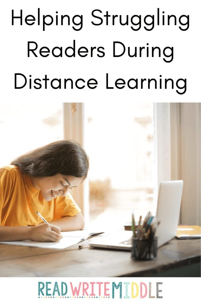 student doing distance learning